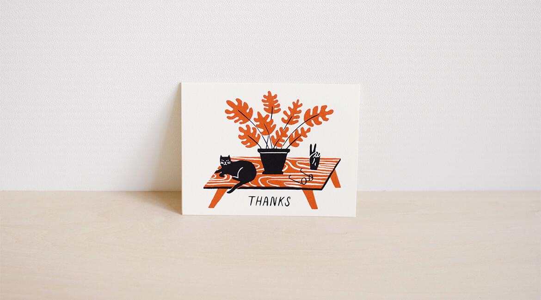猫のポストカード