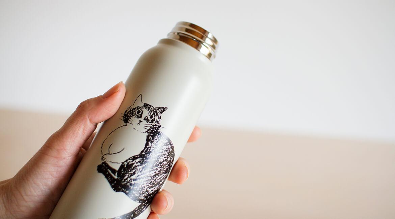 ネコのステンレスボトル
