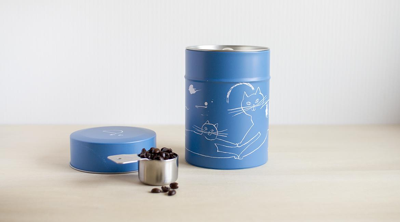 トラネコボンボンのコーヒー缶