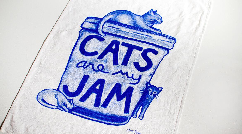 猫のティータオル